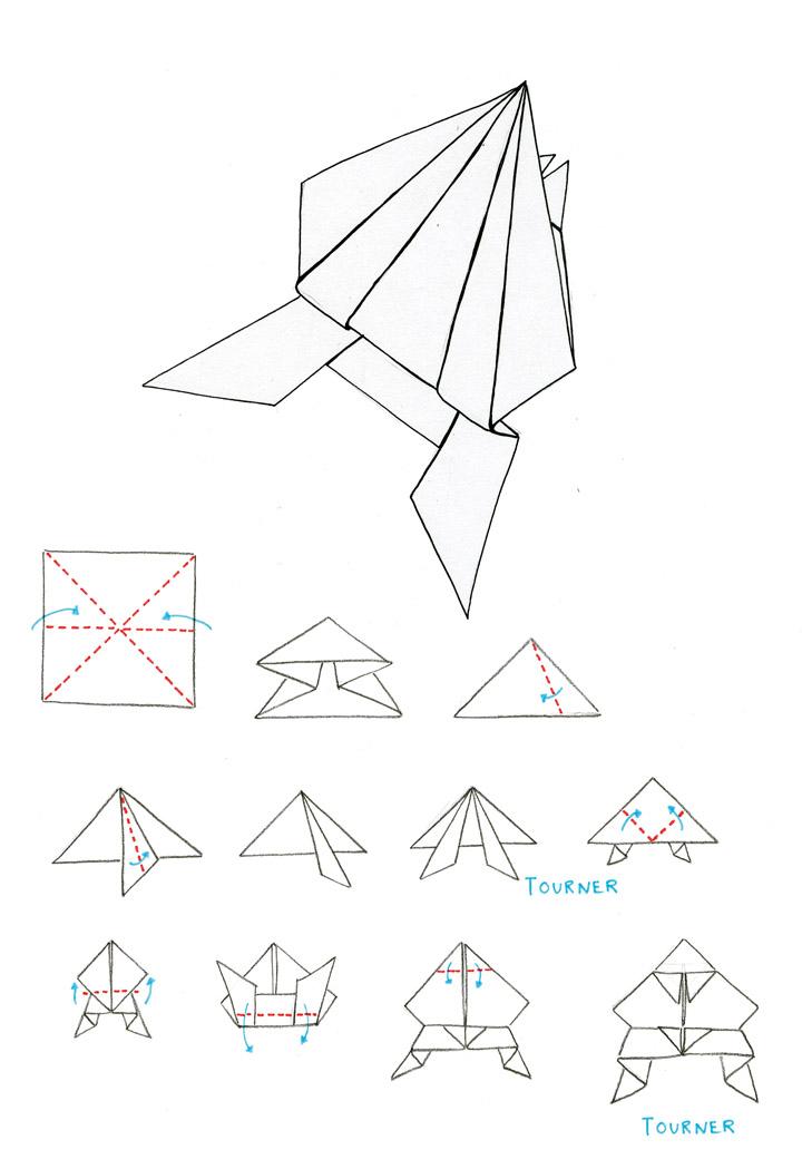Les classiques de l origami la grenouille - Origami grenouille sauteuse pdf ...