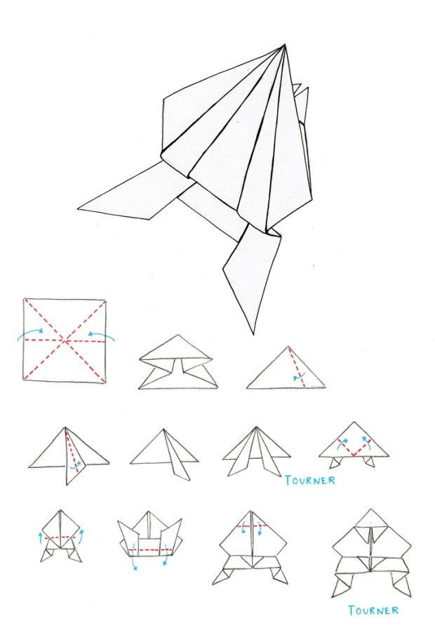 les classiques de l origami la grenouille. Black Bedroom Furniture Sets. Home Design Ideas